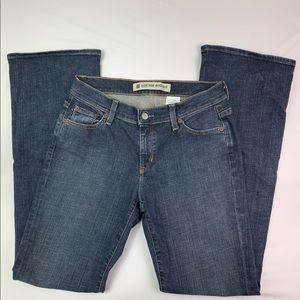 GAP Low Rise Boot Cut Stretch Dark Wash Jeans Sz 6